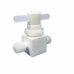 1/4in Compression Ports PTFE Stopcock Valve, 2-Way
