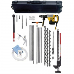 "Heavy Duty Gas Vapor Probe Kitwith Flighted Augers and DeWalt D25763K- 2"" Hammer Drill"
