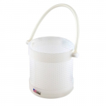 "10x10"" High Density Polyethylene Round Dipping Basket"