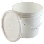 2-Gallon High Density Polyethylene Pail with Cover
