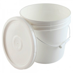 3-Gallon High Density Polyethylene Pail with Cover