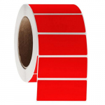 "3000 Solvent-Resistant Label, 3"" x 1.25"", Red"