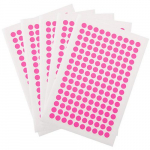 "800 Cryogenic Dots, 0.28"", Pink"