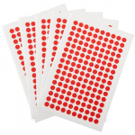 "800 Cryogenic Dots, 0.28"", Red"